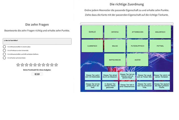 Screenshot Tablet Lesefoerderung Zehn Fragen