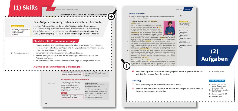 Beispielseiten: Integrierte Aufgaben zum Leseverstehen