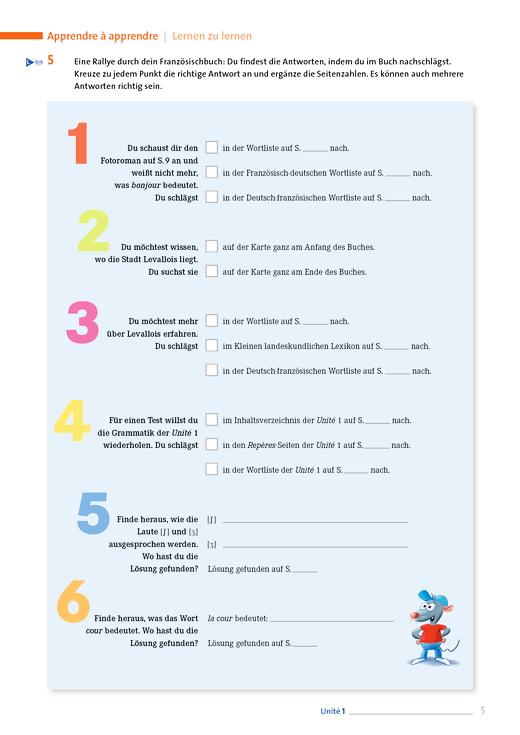 À toi ! - À toi ! 1 A Lehrbuchrallye - Arbeitsblatt - Webshop-Download