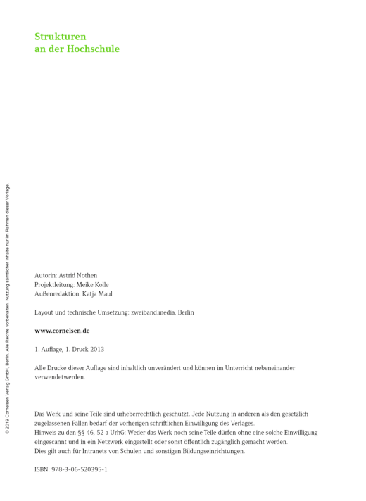 Studieren in Deutschland, Kapitel 2: Strukturen an der Hochschule - Arbeitsblatt