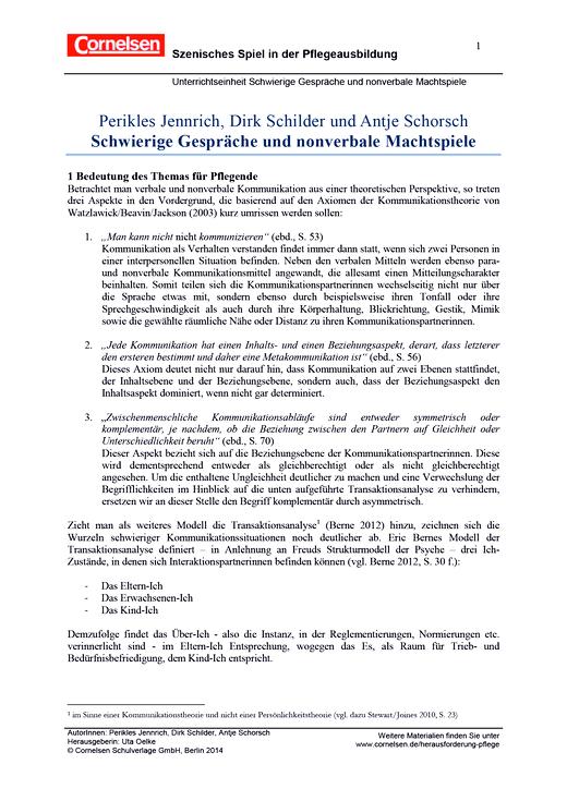 Schwierige Gespräche und nonverbale Machtspiele - Arbeitsblatt - Webshop-Download