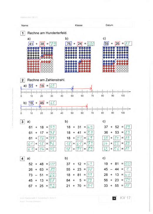 Klick! Mathematik - Mittel-/Oberstufe - Lösungen Kopiervorlagen, 5. Schuljahr - Lösungen - 5. Schuljahr