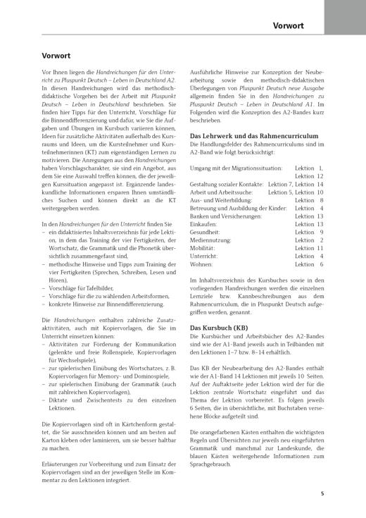 Pluspunkt Deutsch - Leben in Deutschland - Handreichungen für den Unterricht - Lektion 1-3 - Arbeitsblatt - Webshop-Download
