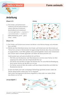 Sally - Farm animals - Arbeitsblatt