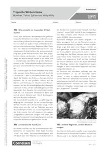 Tropische Wirbelstürme – Hurrikan, Taifun, Zyklon und Willy Willy - Arbeitsblatt