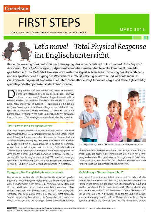 Total Physical Response im Englischunterricht - Arbeitsblatt