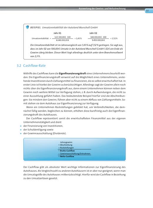 Automobilkaufleute - Korrekturseiten - Band 3: Lernfelder 9-12