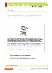 Frühling - Beete bepflanzen - Arbeitsblatt