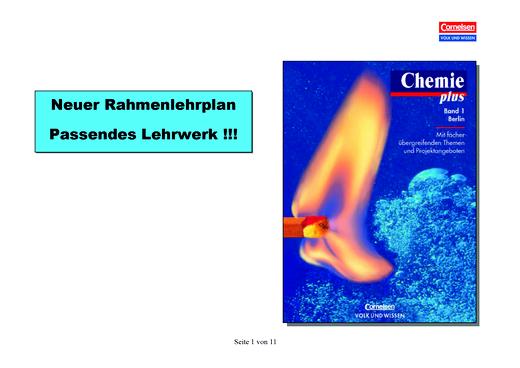 Chemie Plus, Berlin Rahmenlehrplanvergleich Klasse 7-8 - Stoffverteilungsplan - Webshop-Download