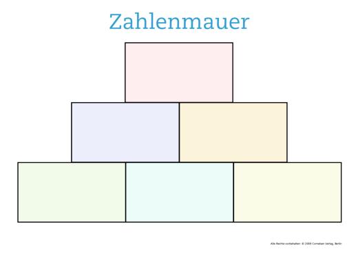 Zahlenmauer - Kopiervorlage
