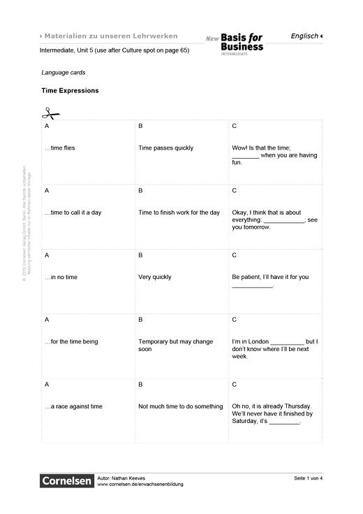 Time Expressions - Arbeitsblatt