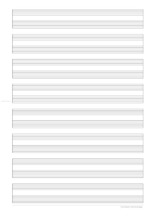 Notenblatt mit Gitarrentabulatur - Kopiervorlage