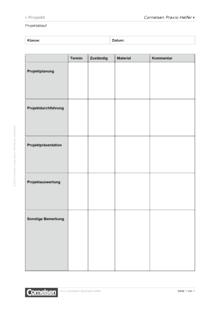 Projektablauf - Editierbare Kopiervorlage
