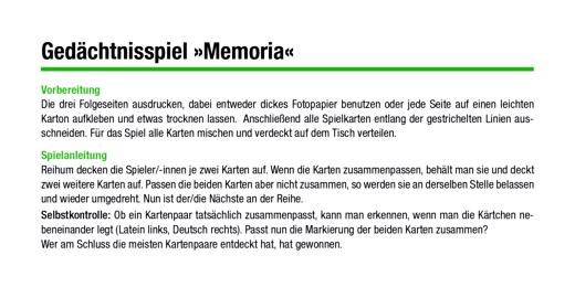 Cursus - Gedächtnisspiel Memoria zum Vokabelkreis Reise und Urlaub - Spiel