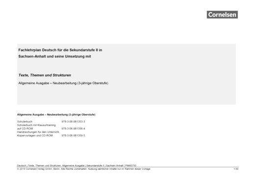 Texte, Themen und Strukturen - Synopse für Sachsen-Anhalt