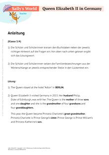 Sally - The Queen in Germany - Arbeitsblatt