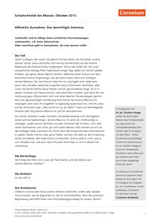 Datenschutz: Hilfreiche Ausnahme - Das berechtigte Interesse - Schulrechtsfall