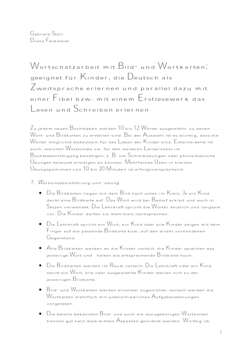 Jo-Jo Fibel - DaZ Wortschatzarbeit mit Bild- und Wortkarten - Didaktische Fachinfo