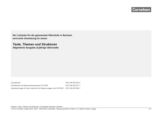 Texte, Themen und Strukturen - Planungshilfe für Sachsen