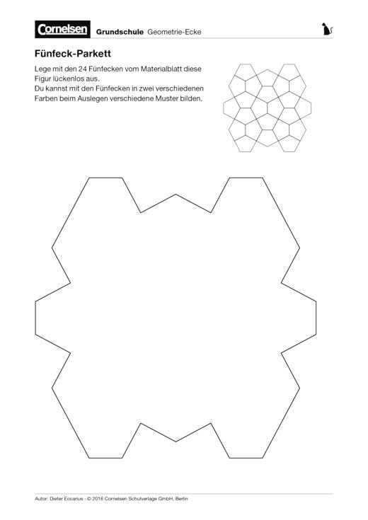 Fünfeck-Parkett - Arbeitsblatt