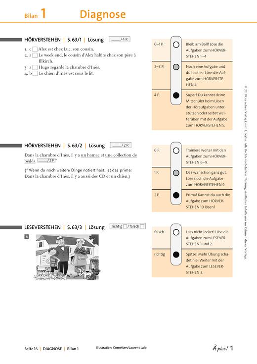 À plus ! - Zu Bilan des compétences 1 – Unité 1-3 - Lösungen - Band 1
