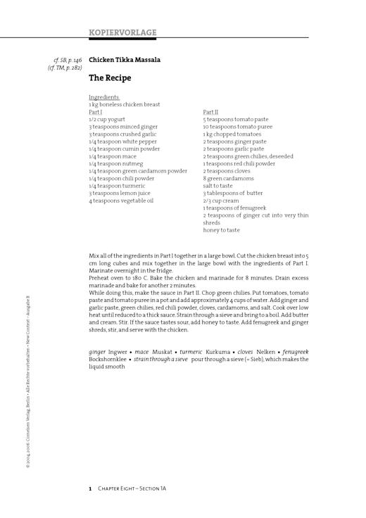 The Recipe - Arbeitsblatt - Webshop-Download