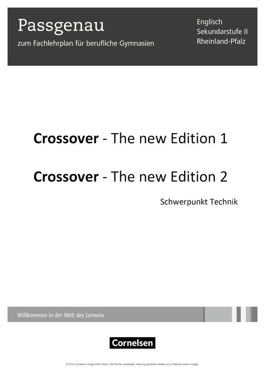 Crossover - Synopse für Rheinland-Pfalz - B2/C1: Band 2 - 12./13. Schuljahr
