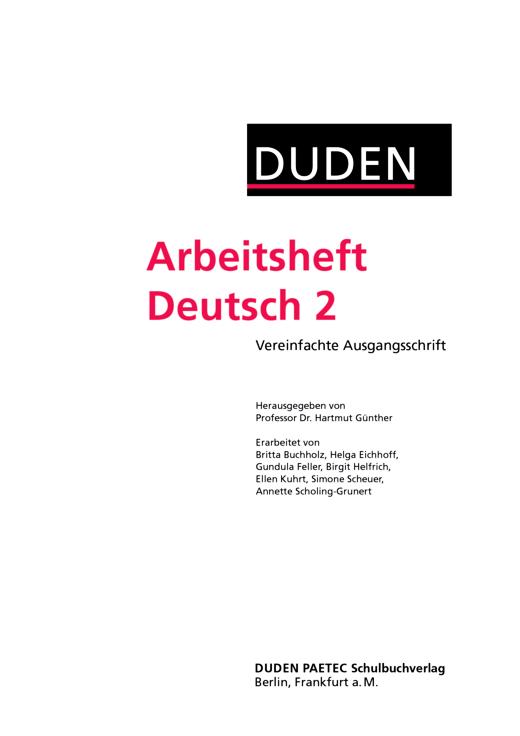 """Arbeitsheft """"Sprachbuch 2"""" als Download - Arbeitsheft als Download - Webshop-Download"""