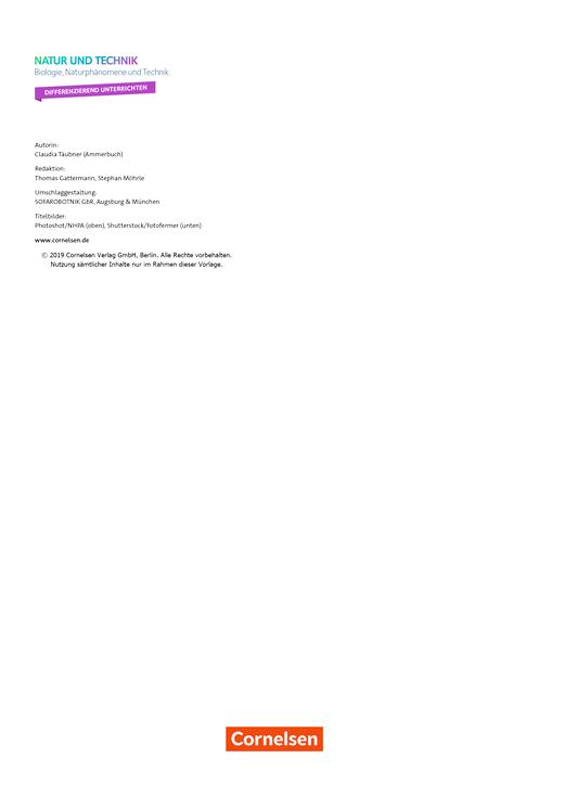 """Natur und Technik - Naturwissenschaften: Neubearbeitung - """"Differenzierend unterrichten"""" mit Kompetenztabellen - Kompetenzverteilung - 5./6. Schuljahr: Biologie, Naturphänomene und Technik"""