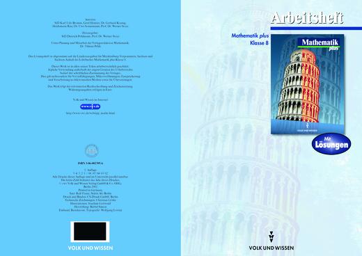 Mathematik Plus: Arbeitsheft + Lösungen Klasse 8 (Mecklenburg-Vorpommern und Sachsen-Anhalt) - Lösungen - Webshop-Download