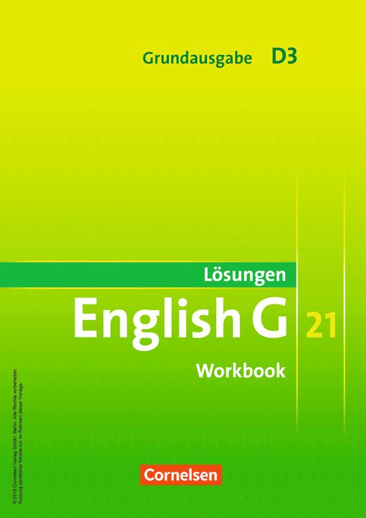 English G 21 - Lösungen zum Workbook als Download - Band 3: 7. Schuljahr