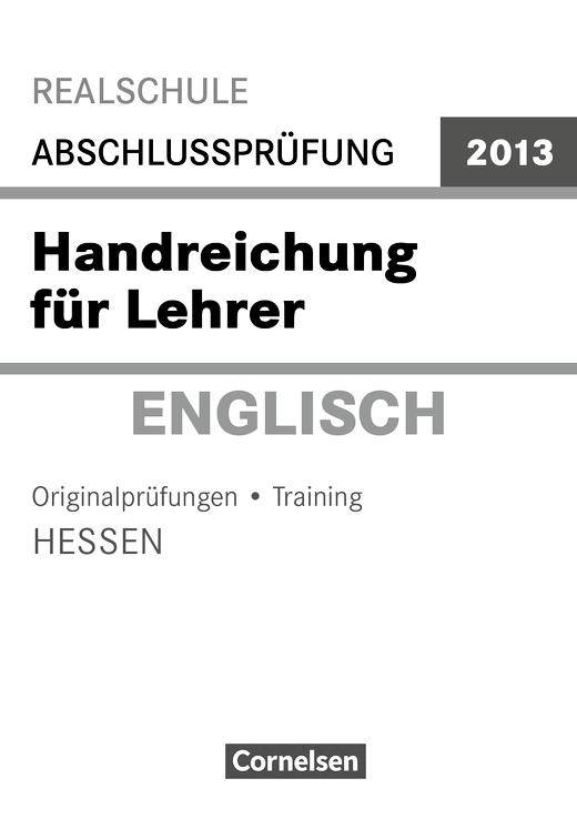 MSA 2013 Englisch Hessen Lehrerhandreichungen - Handreichung