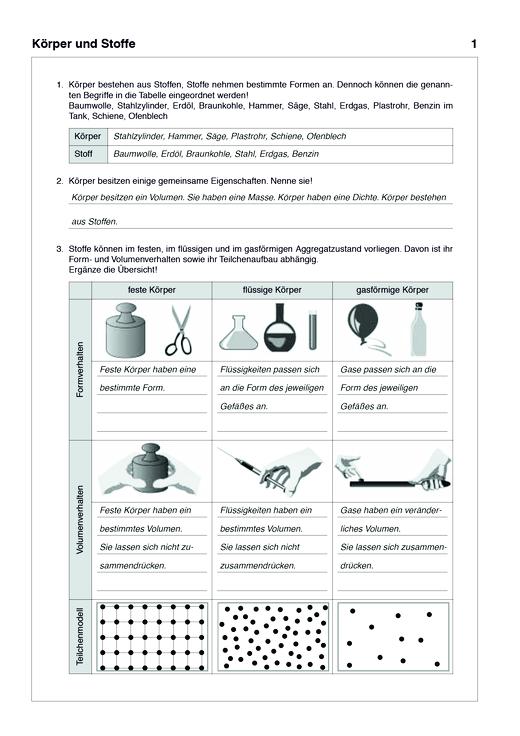 """Lösungen zum Arbeitsheft """"Lösungsheft Naturwissenschaften 2 Natur-Mensch-Technik"""" (zu LB und AH) - Lösungen - Webshop-Download"""