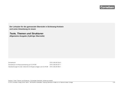 Texte, Themen und Strukturen - Planungshilfe für Schleswig-Holstein