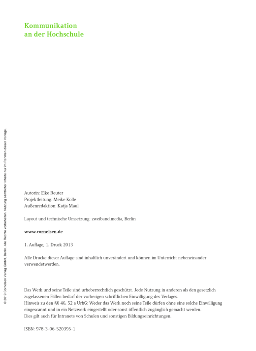 Studieren in Deutschland, Kapitel 1: Kommunikation an der Hochschule - Arbeitsblatt