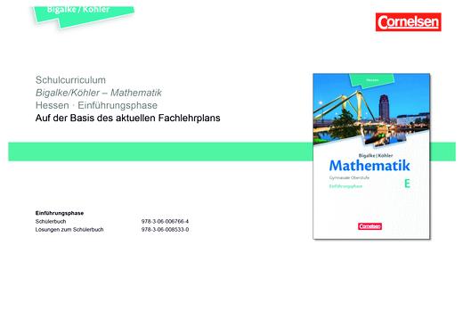 Bigalke/Köhler: Mathematik - Schulcurriculum für Hessen - Einführungsphase