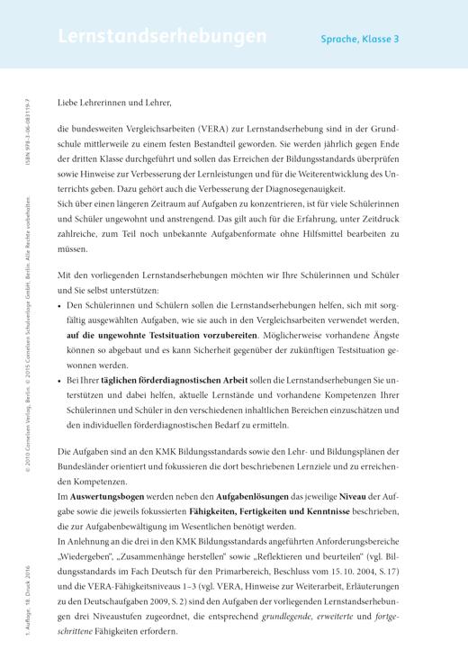 Sprachfreunde - Lernstandserhebungen Sprachfreunde Arbeitshefte Nord 3 - Lernstandserhebung - 3. Schuljahr