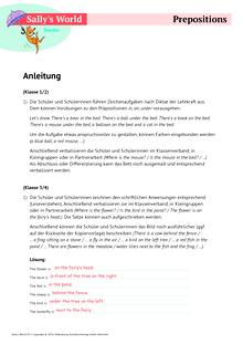 Sally - Prepositions - Arbeitsblatt