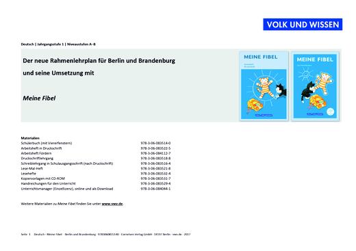 Meine Fibel - Meine Fibel (Mimi) – Stoffverteilungsplan für Berlin/Brandenburg - Stoffverteilungsplan - 1. Schuljahr