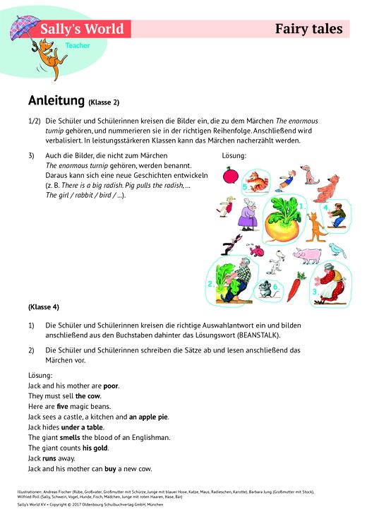 Fairy Tales - Arbeitsblatt - Webshop-Download