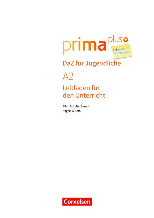 Prima plus - Leben in Deutschland - Prima plus Leben in Deutschland - DaZ für Jugendliche A2 - Arbeitsblatt - Webshop-Download