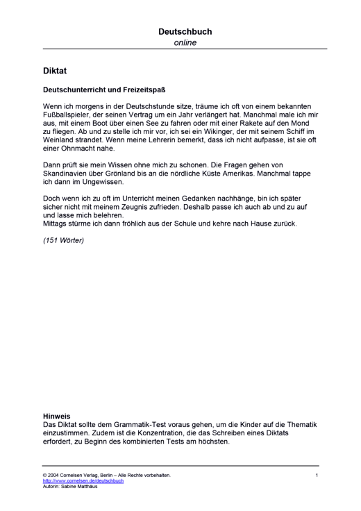 Deutschbuch Gymnasium - Rechtschreib- und Grammatiktest - Leistungsmessung, Test, Prüfung - zu Lehrwerken - 5. Schuljahr