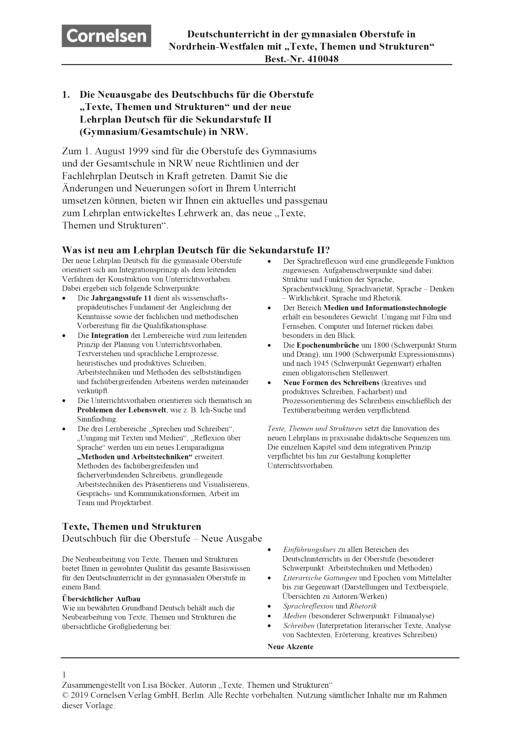 Stoffverteilungsplan NRW Jahrgangsstufe 11 - Stoffverteilungsplan - Webshop-Download
