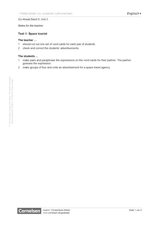 Mathefreunde - Space tourist - Arbeitsblatt - 9. Jahrgangsstufe