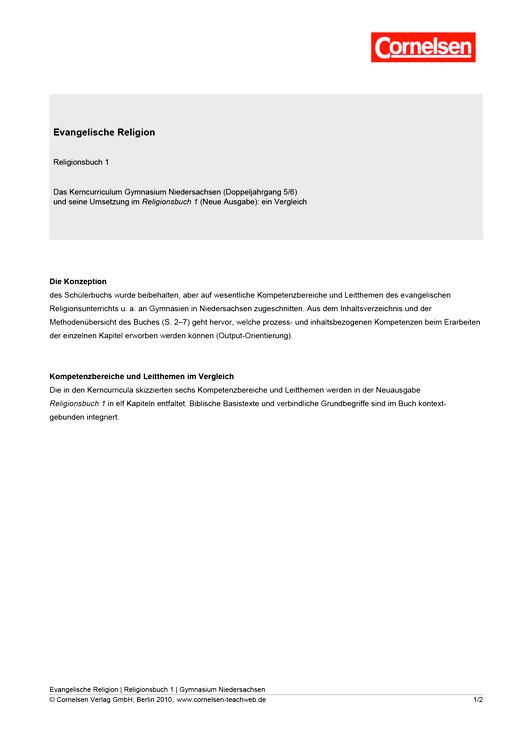 Religionsbuch - Religionsbuch 1 - Synopse - Synopse - Band 1