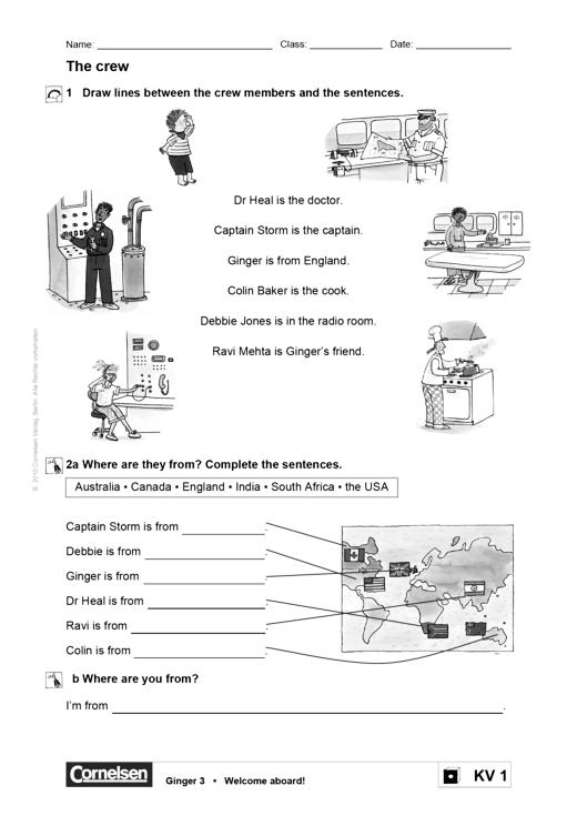 Ginger - Kopiervorlage zur Differenzierung - Band 3/4: 3./4. Schuljahr
