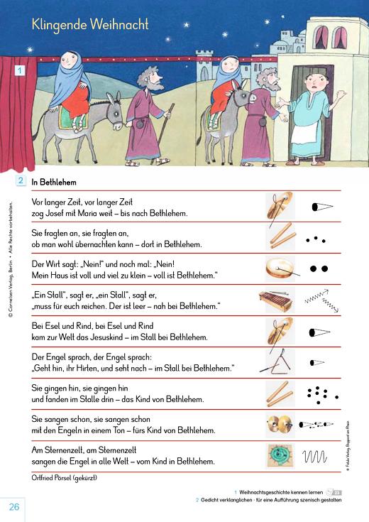 Material: Klingende Weihnacht - Arbeitsblatt - Webshop-Download