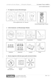 Kommunikationskärtchen in der Klasse - Editierbare Kopiervorlage