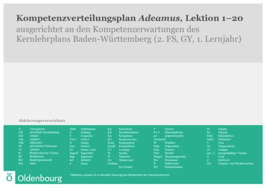 Adeamus! - Synopse Adeamus! Baden-Württemberg Gymnasium - Synopse