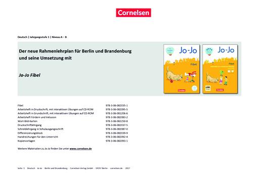 Jo-Jo Fibel - Stoffverteilungsplan für Berlin/Brandenburg